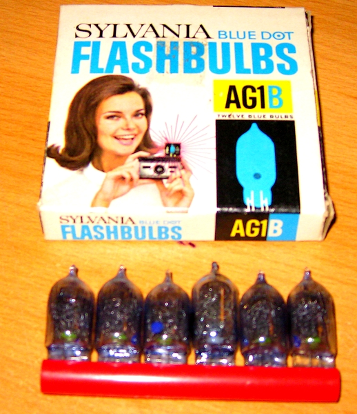 AG1 bulbs blue dot