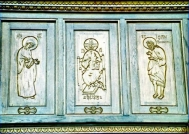 Cathedral door detail- Tg.Mures-Romania