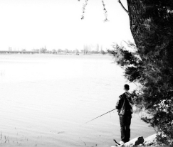 Fishing in suit-Romania