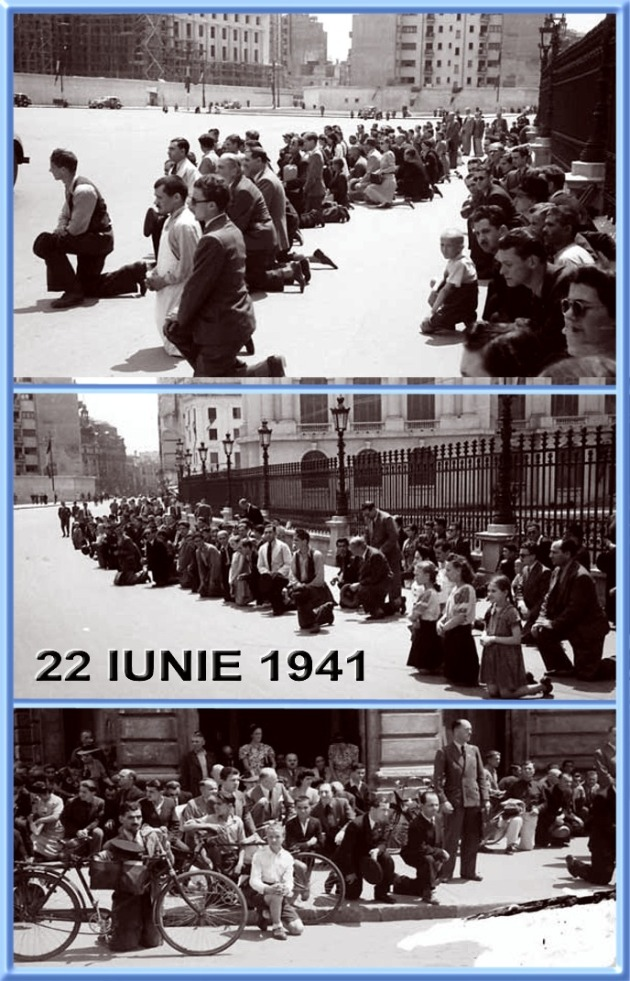 22 June 1941 - news just broke: We have invaded the USSR. Everywhere in Romania, citizens are praying for victory against the Eastern hordes. Traffic has stopped, everywhere people were thinking to the soldiers forcing the Soviet borders.