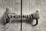 Unbroken seal on King Tut's dor
