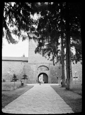 The entrance to the Monastery of Putna - Romania