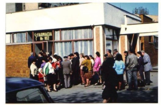 Queue for medication...and they said the health services were free in communist Romania...
