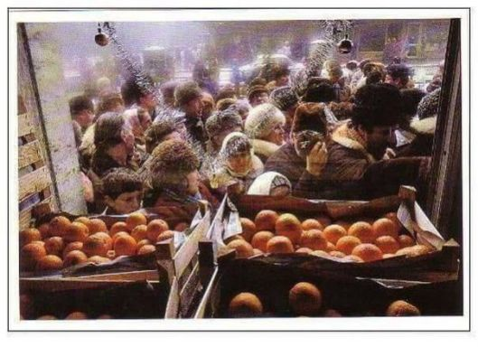 Drooling crowd: oranges were as rare as hens teeth back then